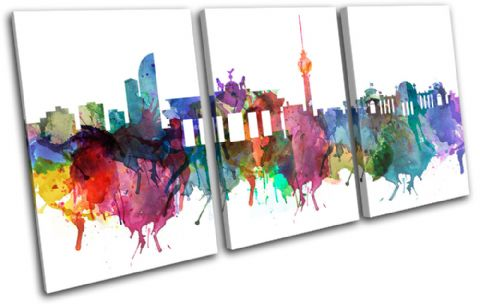 Berlin Watercolour  Abstract City - 13-6032(00B)-TR21-LO